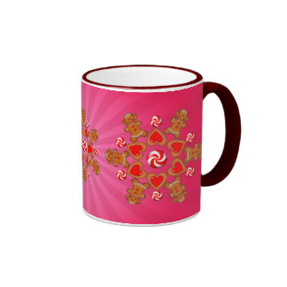 GINGERBREAD GIRL STAR COOKIE by SHARON SHARPE Coffee Mugs