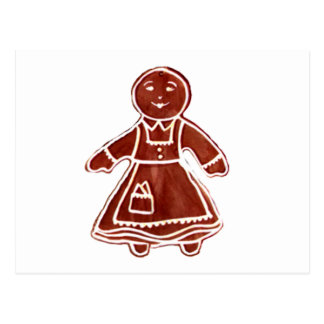 Gingerbread Girl The MUSEUM Zazzle Gifts Post Card