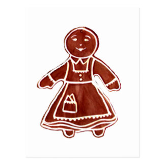 Gingerbread Girl The MUSEUM Zazzle Gifts Postcards