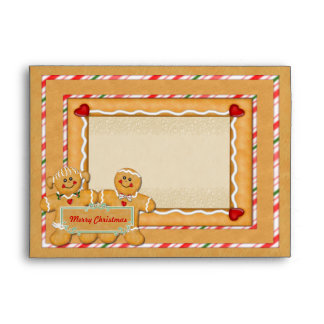 """Gingerbread Greetings - fits 5""""x7"""" cards Envelopes"""