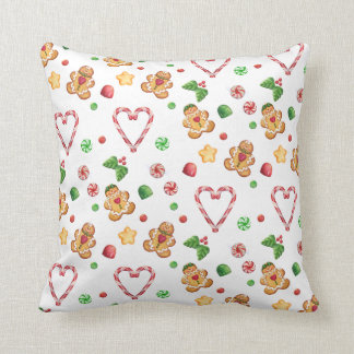 Gingerbread Gumdrops & Mints Pillow