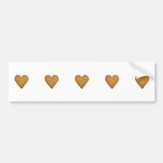 Gingerbread Heart Car Bumper Sticker