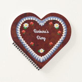 Gingerbread Heart (customizable) Notebook