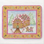 Gingerbread Heart House Mousepad