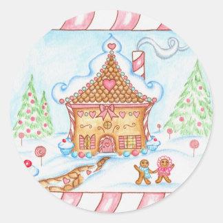Gingerbread Heart House Sticker