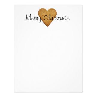 Gingerbread Heart Letterhead Design