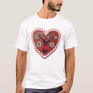 Gingerbread heart proud deer Octoberfest T-Shirt
