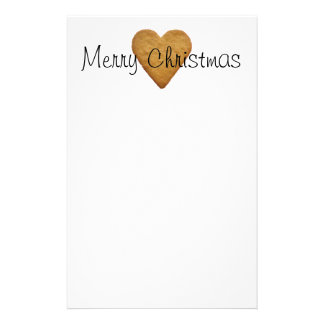Gingerbread Heart Customized Stationery