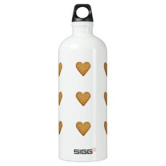 Gingerbread Heart Water Bottle