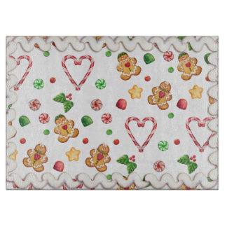 Gingerbread & Hearts Iced Cutting Board
