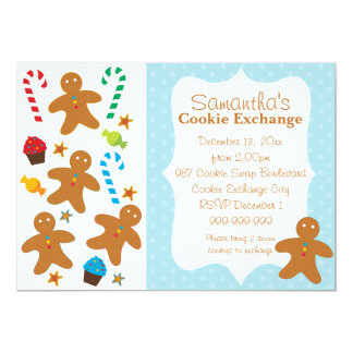 Gingerbread Holiday Cookie Exchange Card