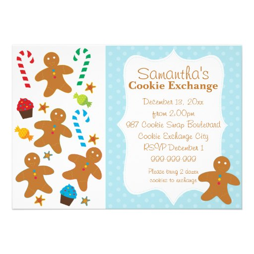 Gingerbread Holiday Cookie Exchange Invite