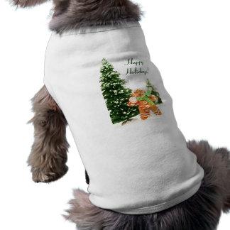 Gingerbread Holiday Dog Shirt