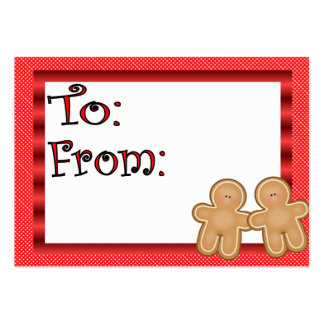 Gingerbread Holiday Gift Tag Large Business Cards (Pack Of 100)