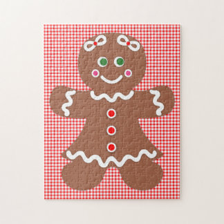 Gingerbread Holiday Girl Jigsaw Puzzle