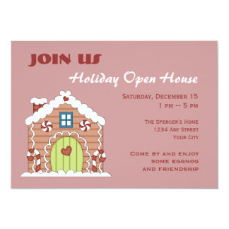 Gingerbread Holiday Open House Invitation Card