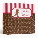 Gingerbread Holiday Recipe Binder
