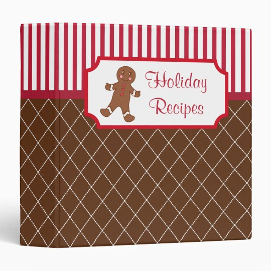 Gingerbread Holiday Recipe Binder