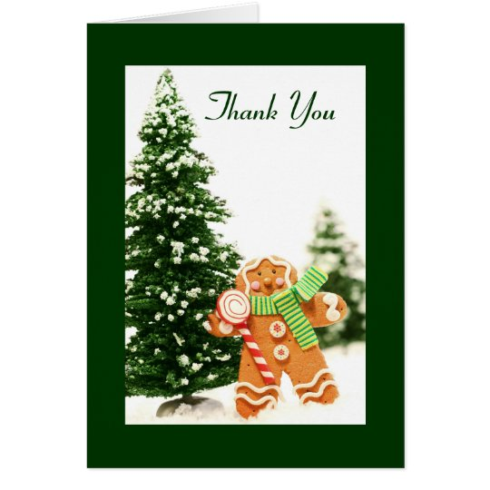 Gingerbread Holiday Thank You Card