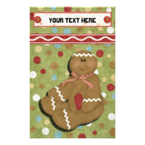 Gingerbread Holidays Recipe Binder-Divider Stationery