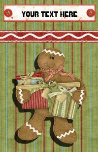gingerbread holidays recipe binder divider stationery