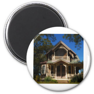 Gingerbread house 16 2 inch round magnet