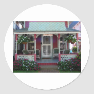 Gingerbread house 34 classic round sticker