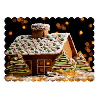Gingerbread House 5x7 Paper Invitation Card