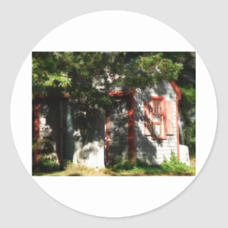 Gingerbread house 9 classic round sticker