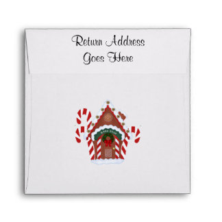 Gingerbread House and Candy Canes Holidy Envelopes