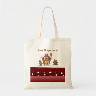 Gingerbread House and Gingerbread Men Tote Bag