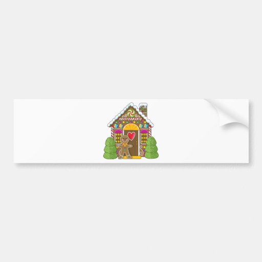 Gingerbread House and Man Bumper Sticker