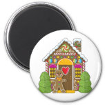 Gingerbread House and Man Refrigerator Magnet