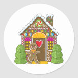 Gingerbread House and Man Sticker