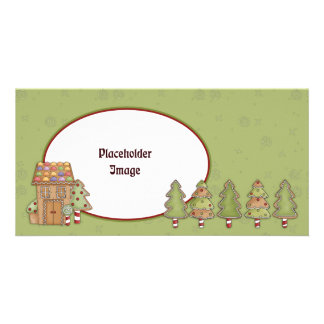 Gingerbread  house and trees card