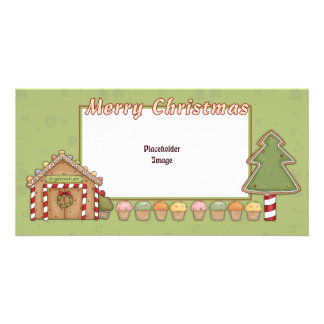 Gingerbread House and Xmas trees Card
