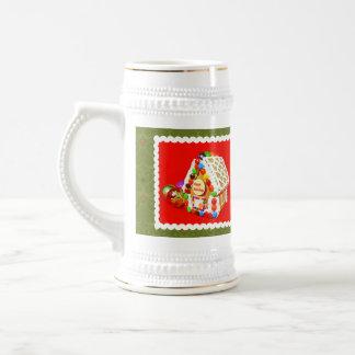 Gingerbread house beer stein