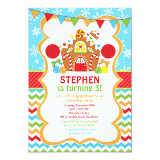 Gingerbread House Birthday Invitation