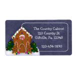 Gingerbread House Business Label Shipping Label