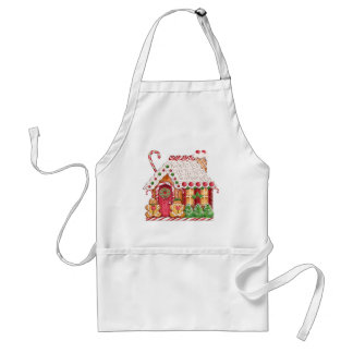Gingerbread House by SRF Adult Apron