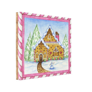 Gingerbread House Canvas Art Print