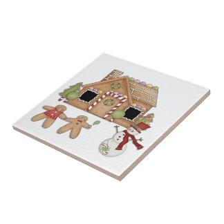 Gingerbread House Ceramic Tile