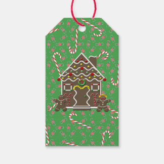Gingerbread House Christmas Candy Gift Tags