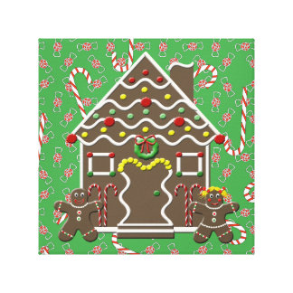Gingerbread House Christmas Canvas Wall Art
