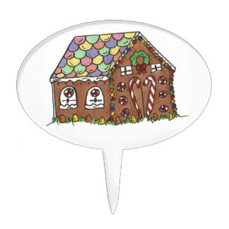 Gingerbread House Christmas Holiday Home Sweet Cake Topper