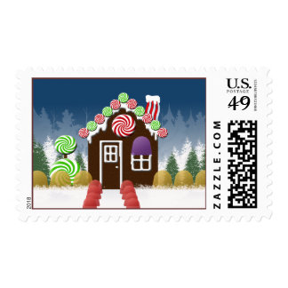 Gingerbread House Christmas Postage