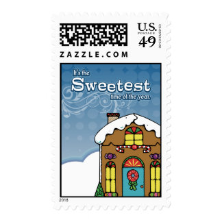 Gingerbread House Christmas Postage Stamps
