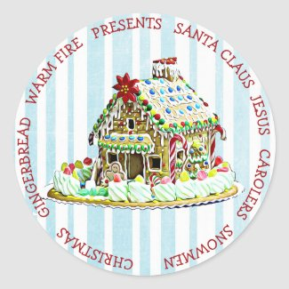 Gingerbread House Christmas Pretty Sticker