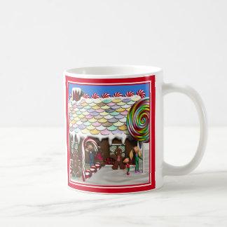 Gingerbread House Christmas Scene Coffee Mug