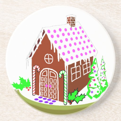 Gingerbread house coaster